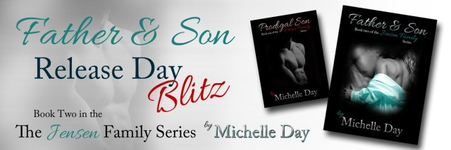 father & son release day banner for blog posts
