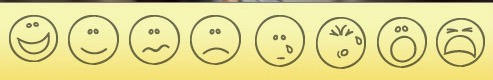 pain faces in a row